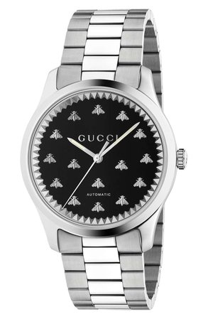 Gucci Bee Automatic Bracelet Watch, 42mm | Nordstrom