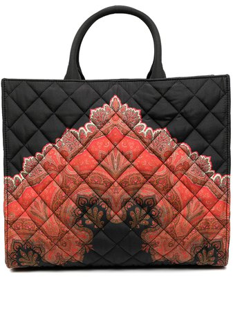 Etro Quilted Print Tote - Farfetch