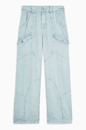 IDOL Blue Washed Pants | Topshop