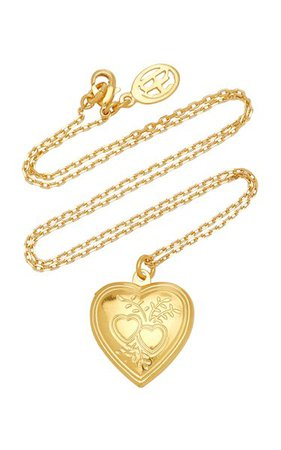 Heart Locket Gold-Plated Necklace By Ben-Amun | Moda Operandi