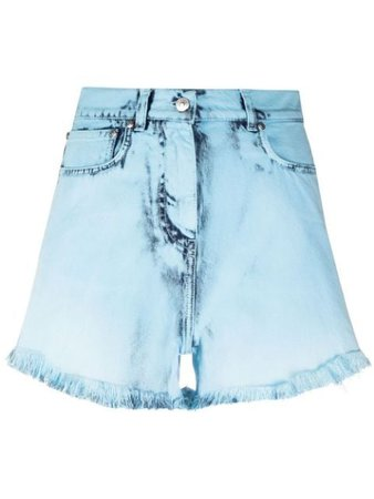 MSGM distressed-effect denim shorts
