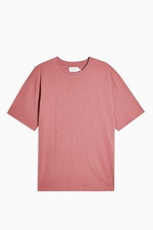 TOPMAN Rose Pink Oversized T-Shirt | Topshop