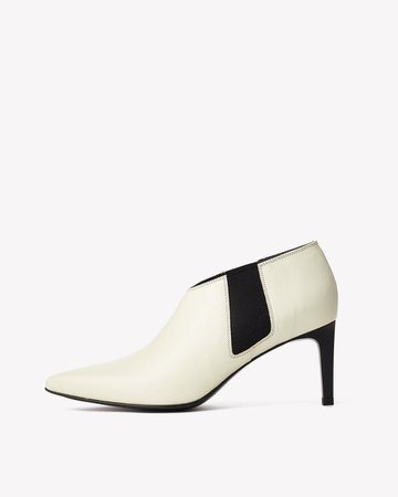 Beha White Chelsea Boots with a Stiletto Heel   rag & bone
