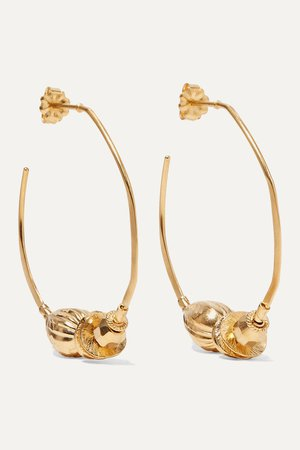 Gold Gold-plated hoop earrings | Chan Luu | NET-A-PORTER