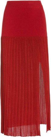 Altuzarra Dean Pleated Knit Skirt