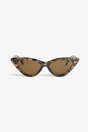 Cat eye sunglasses - Speckled turtle - Sunglasses - Monki WW