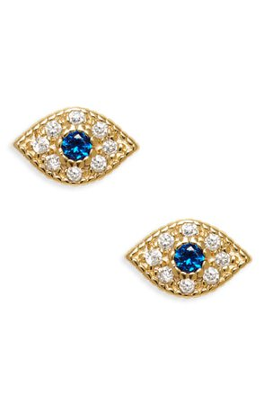 Argento Vivo Sterling Silver Teeny Evil Eye Stud Earrings | Nordstrom