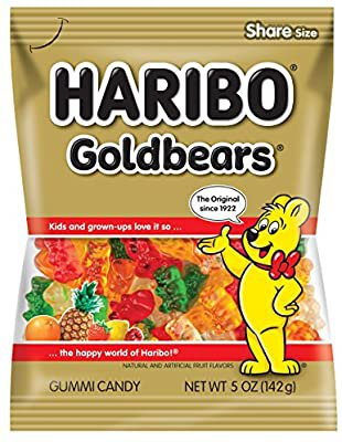 Amazon.com : Haribo Gummi Candy, Goldbears, 5 oz Bags (Pack of 12) : Grocery & Gourmet Food