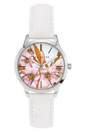 Ted Baker London Fitzrovia Leather Strap Watch, 34mm | Nordstrom