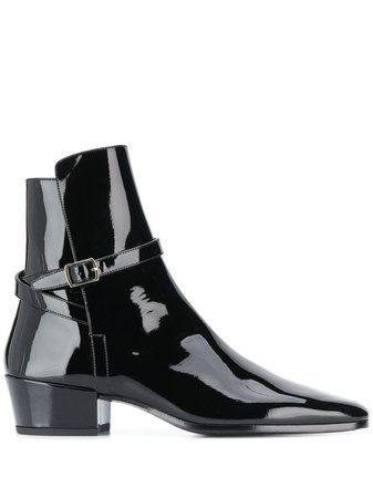 Saint Laurent Buckle Strap Ankle Boots