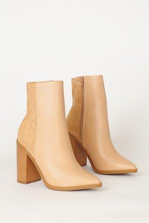 Chic Beige Boots - Vegan Boots - Mid-Calf Booties - Lulus