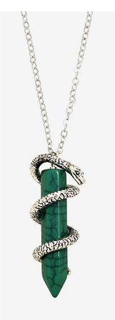Slytherin Silver Green Necklace