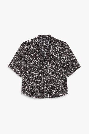Cropped shirt blouse - Floral print - Shirts & Blouses - Monki WW