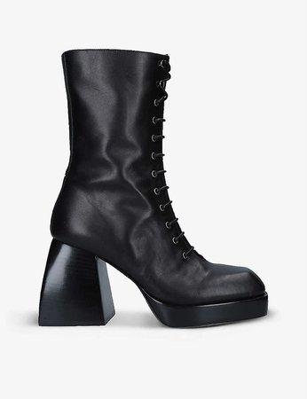NODALETO - Bulla Lace Up leather ankle boots   Selfridges.com