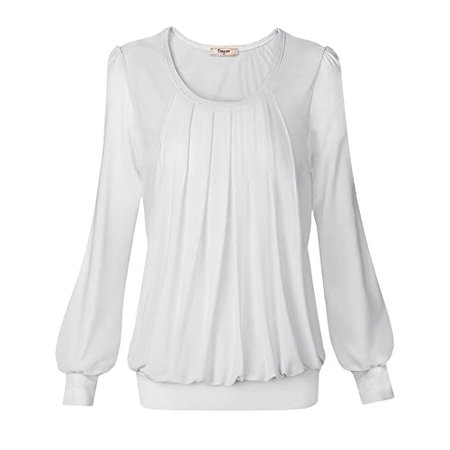 Women's White Blouse: Amazon.com