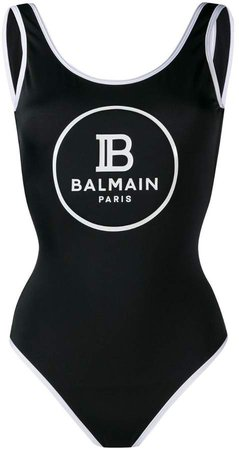 logo print swimsuit
