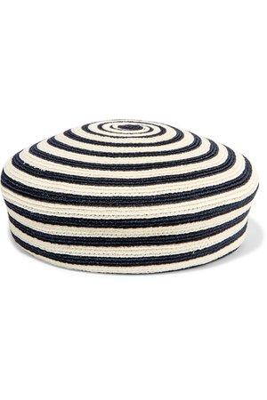 Gucci   Striped woven hemp and cotton-blend beret   NET-A-PORTER.COM