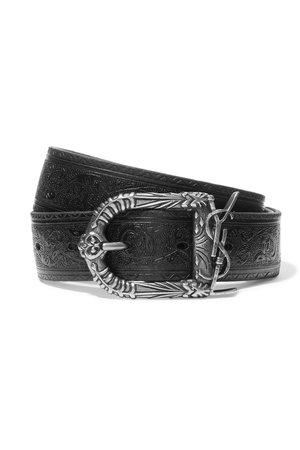 Saint Laurent | Embossed leather belt | NET-A-PORTER.COM