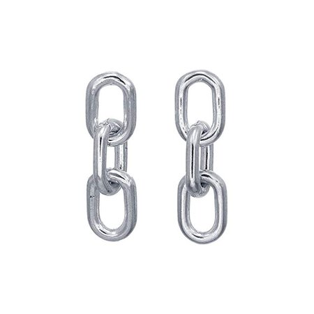 Amazon.com: Boma Jewelry Sterling Silver Chain Link Stud Earrings: Jewelry