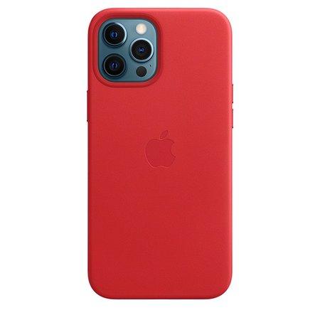 Capa de couro com MagSafe para iPhone 12 Pro Max – Papoula-laranja - Apple (BR)