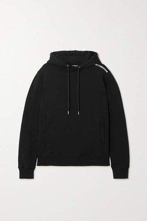 Bodyline Printed Cotton-jersey Hoodie - Black