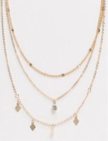 ASOS Gold Multi Necklaces