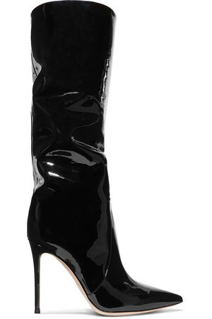 Gianvito Rossi | 105 patent-leather knee boots | NET-A-PORTER.COM