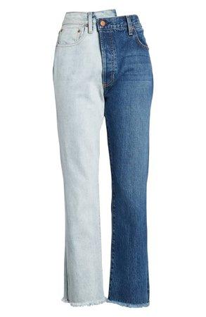AO.LA Amazing Two-Tone High Waist Boyfriend Jeans | Nordstrom