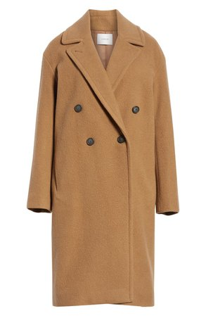 Vince Double Breasted Wool Blend Coat | Nordstrom