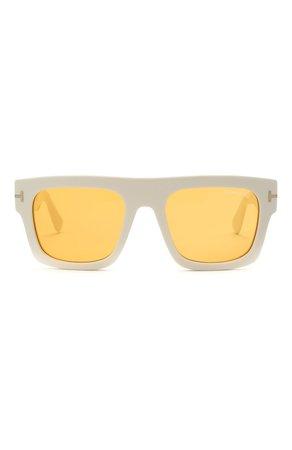Женские белые солнцезащитные очки TOM FORD — купить за 27350 руб. в интернет-магазине ЦУМ, арт. TF711 25E