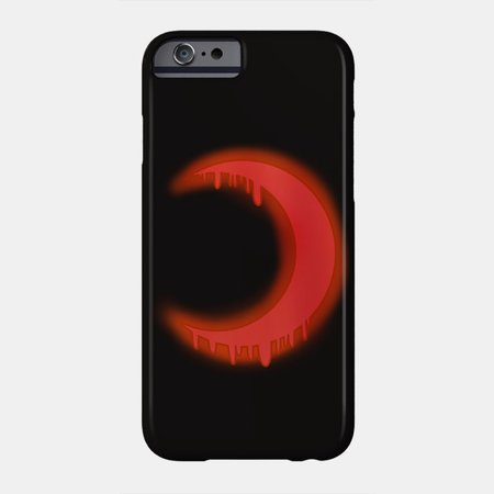 bloody crescent phone case