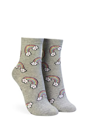 Rainbow Print Crew Socks | Forever 21