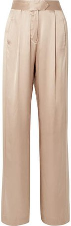 Michelle Mason - Wide-leg Silk-charmeuse Pants