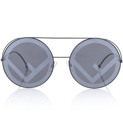 Run Away oversized round sunglasses