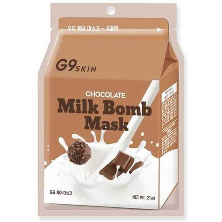 Forever21 G9 Skin Chocolate Milk Bomb Mask (120 RUB) ❤ liked on Polyvore featuring beauty products, skincare, face care, face masks, brown, forever 21, facial mask and face mask