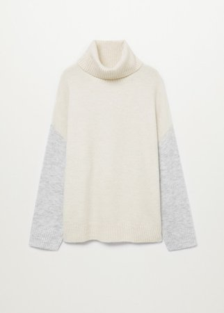 Turtle neck oversize sweater - Women | Mango USA