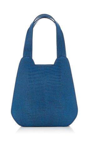 La Lucia Lizard-Embossed Leather Tote Bag by TL 180   Moda Operandi