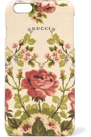 Gucci Adonis floral-print textured phone case