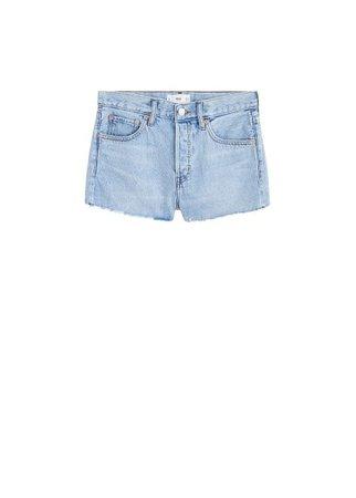 MANGO Frayed denim shorts