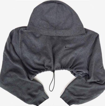 grey crop nike hoodie