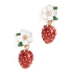Kate Spade New York Picnic Perfect Strawberry Drop Earrings