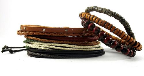 bracelet set - leather