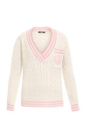Cable-Knit Wool-Blend Sweater By Balmain   Moda Operandi