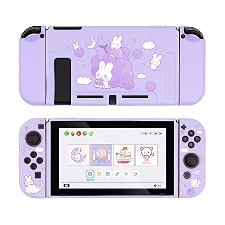 Amazon.com: GeekShare Protective Case for Switch, Soft TPU Slim Case Cover Compatible with Nintendo Switch Console and Joy-Con (Grape Bunny): Video Games