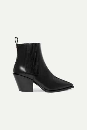Black Kate leather ankle boots | aeydē | NET-A-PORTER