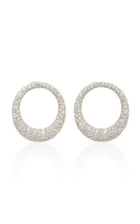 Galaxy 18K White Gold Diamond Earrings by Anita Ko | Moda Operandi