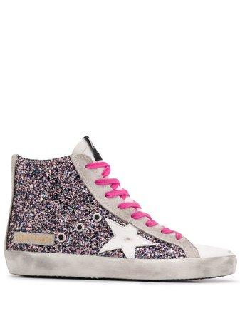 Golden Goose Francy Glitter Sneakers G36WS591C68 Pink | Farfetch