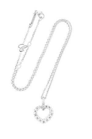 Chopard | L'Heure du Diamant 18-karat white gold diamond necklace | NET-A-PORTER.COM