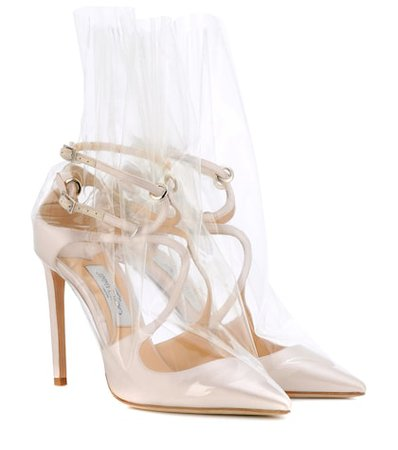 x Off-White Claire 100 satin pumps