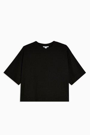 Black Panel Boxy T-Shirt | Topshop